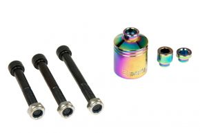 BESTIAL WOLF PEGI SHORT 40mm CHROMOLY RAINBOW